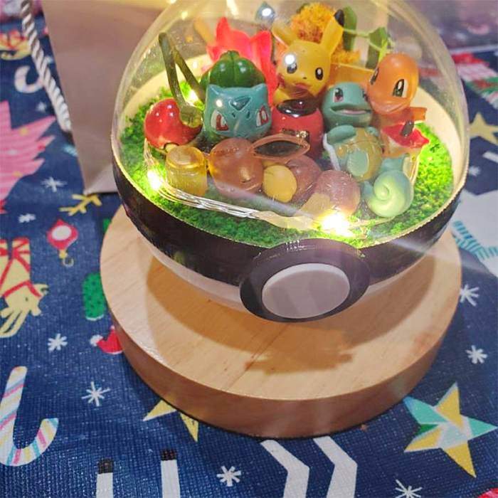 clear pokeball with toys string light