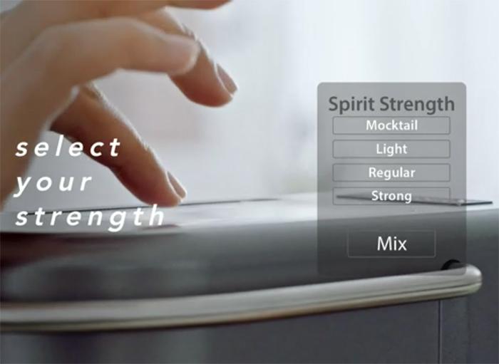 cocktail machine spirit strength