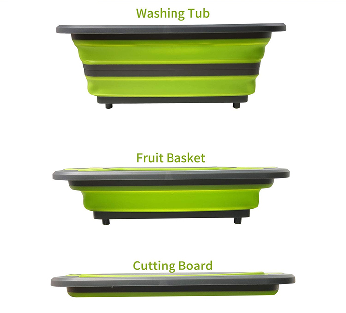 collapsible cutting board 3-in-1
