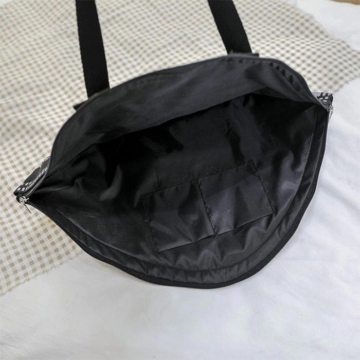 covid inspired handbag inner lining