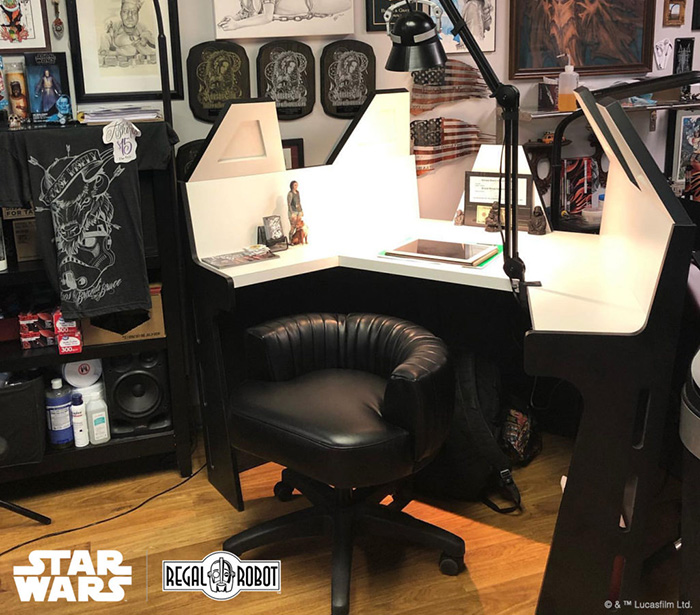 custom darth vader desk for brandi harkness-bruce