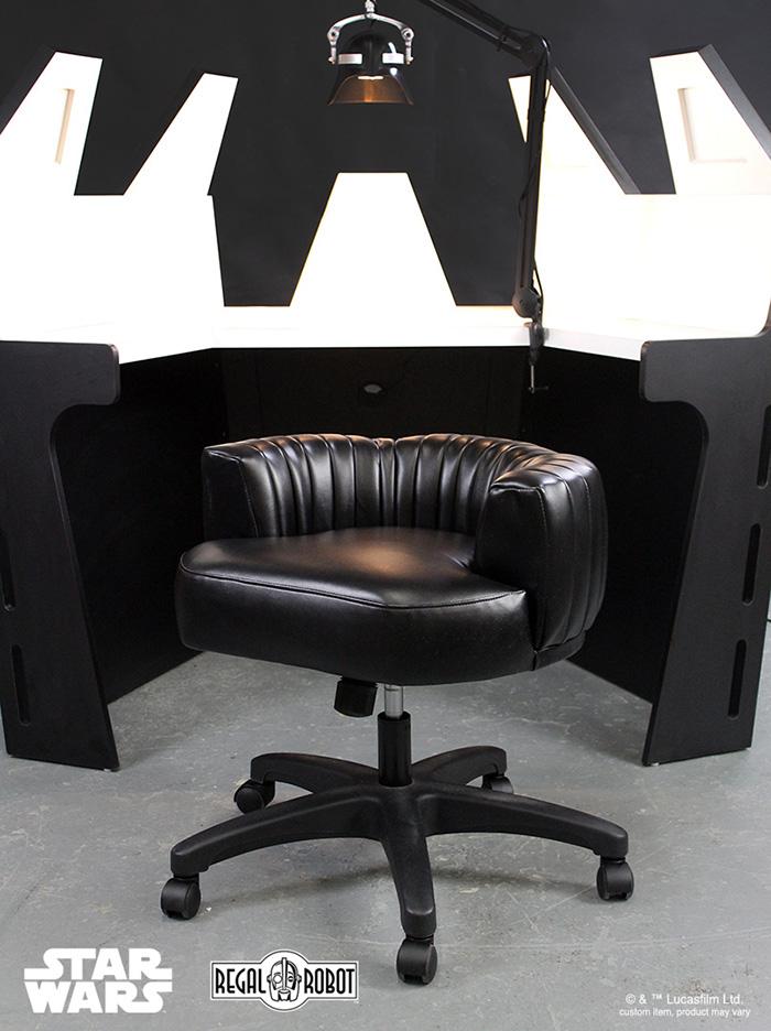 custom star wars themed work table and stool chair