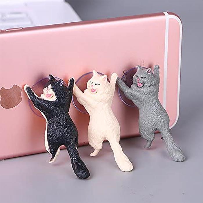 cute cat phone holders