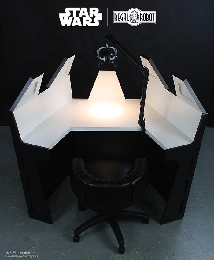 desk based on darth vader meditation chamber by regal robot