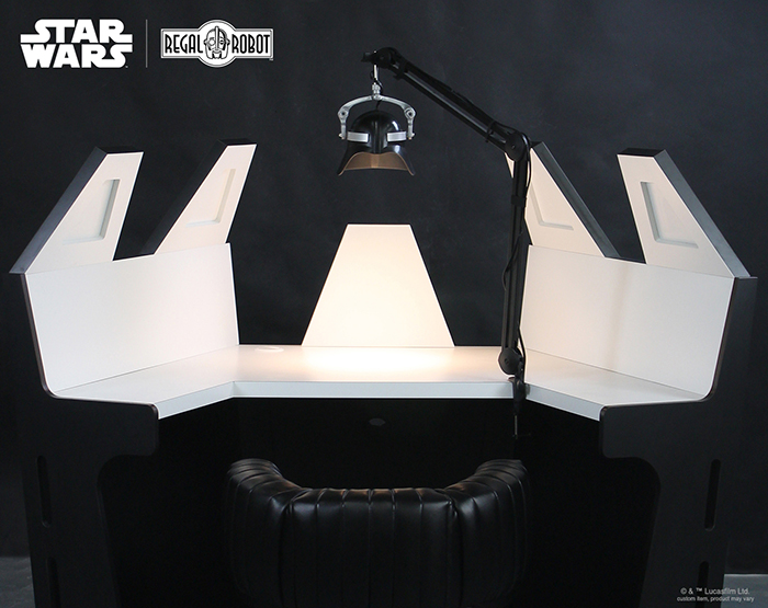 desk inspired by darth vader meditation chamber