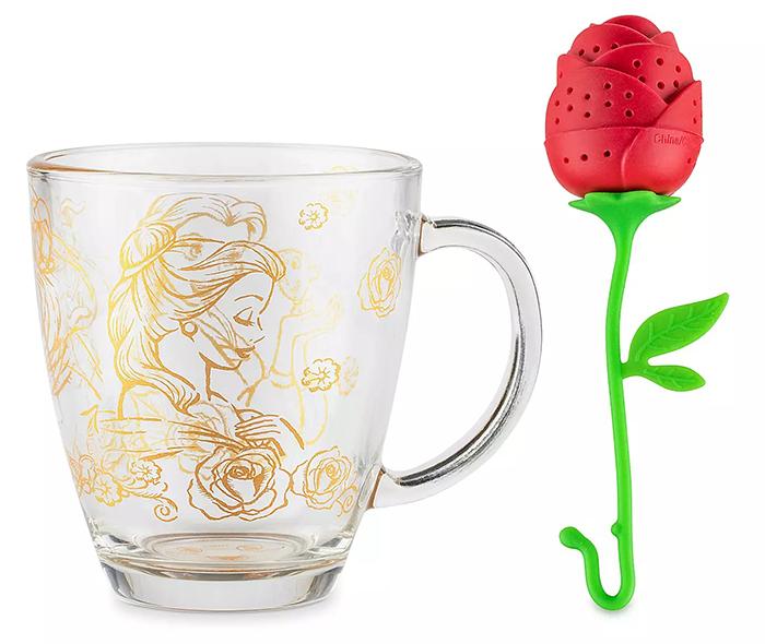 disney beauty and the beast mug and tea infuser set