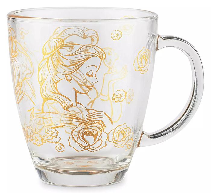 disney beauty and the beast mug belle illustration