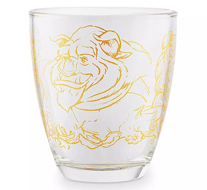 disney transparent tea cup beast illustration