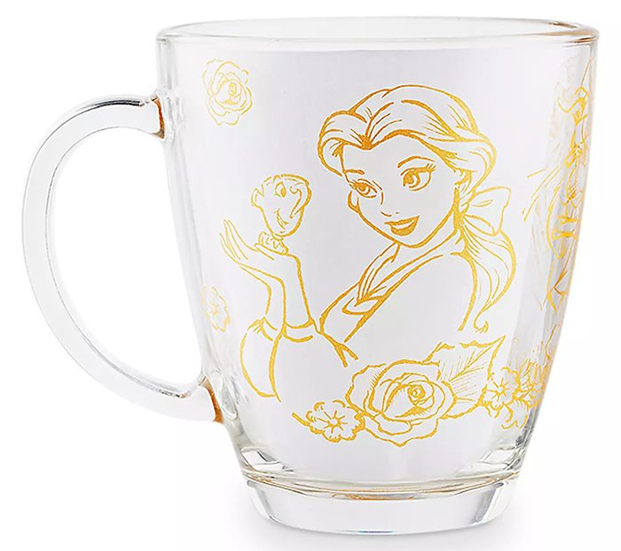 disney transparent tea cup belle illustration
