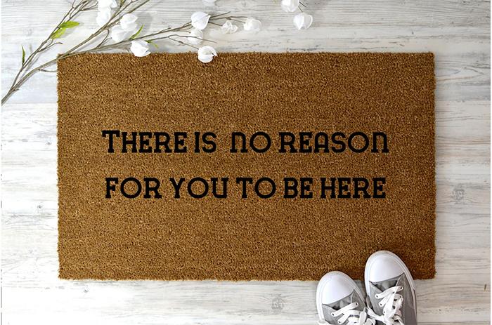 elmoredesign funny entrance floor mat for unwanted guests