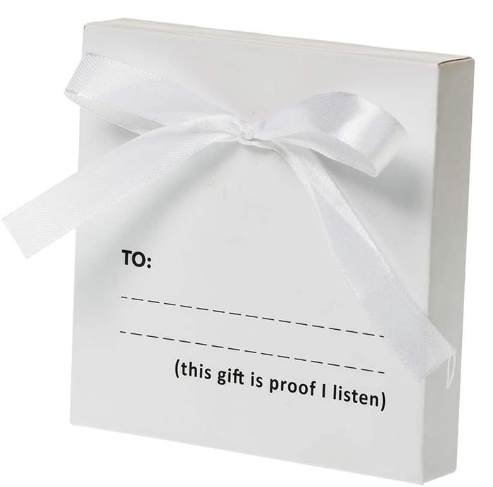 empty gift box prank