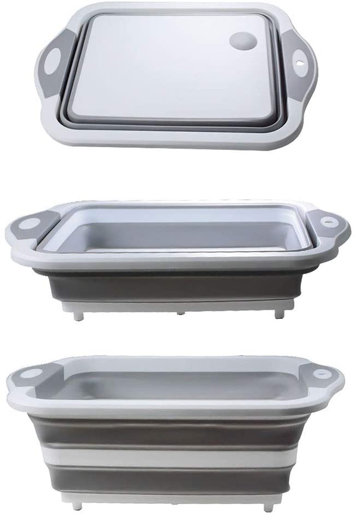 expandable kitchen basin gray