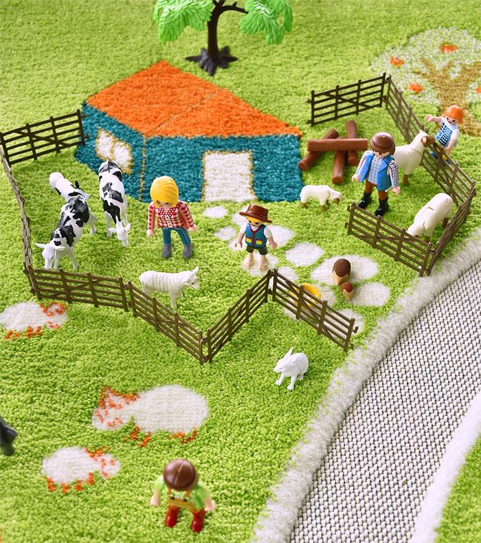 farm-inspired playmat for kids