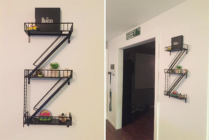 fire escape shelf wall-mounted