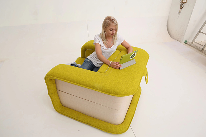 flop multifunctional armchair designed by elena sidorova