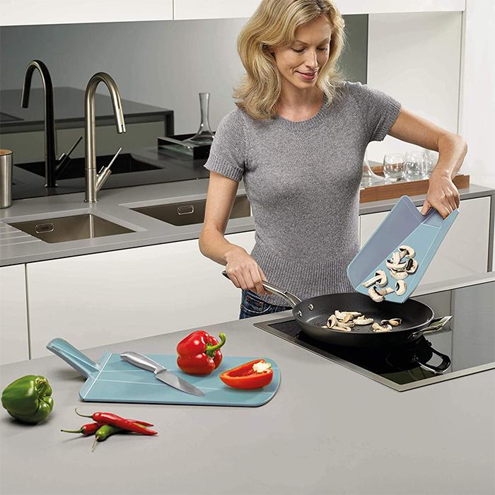 foldable cutting board dove gray