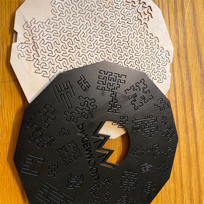 fractal jigsaw puzzle black case