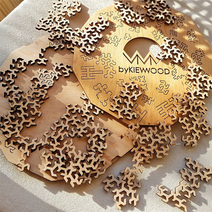 fractal jigsaw puzzle wooden