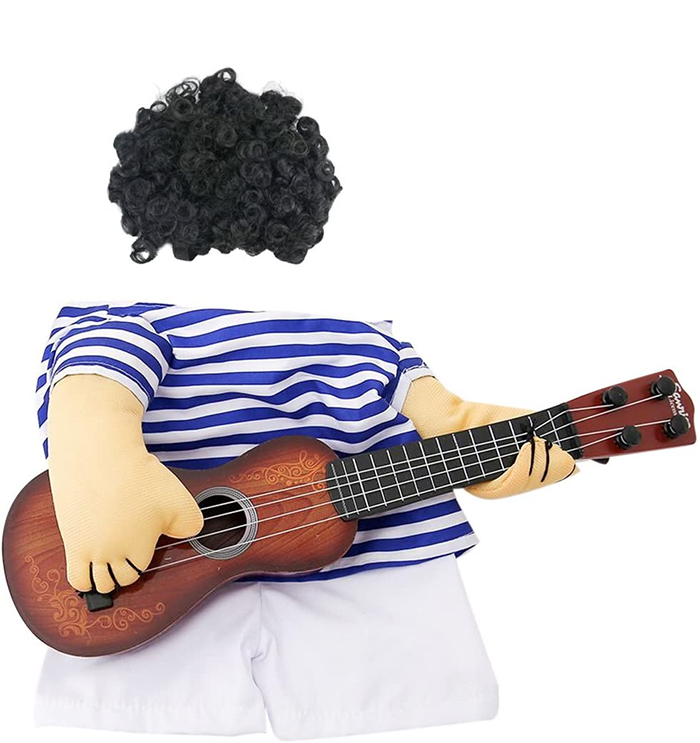 funny guitar man clothes suit