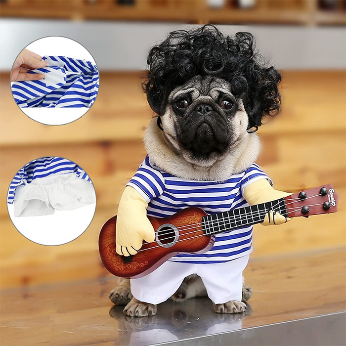funny guitar man outfit for pet