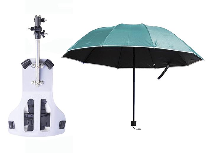 hand free umbrella green
