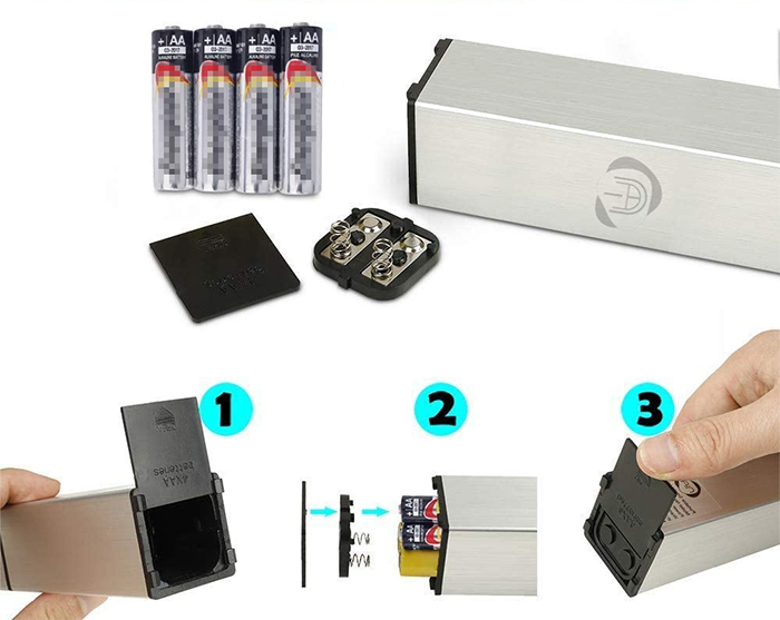 handheld food smoker battery compartment