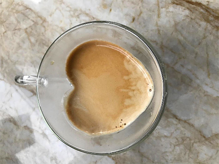 heart shaped cup for coffee