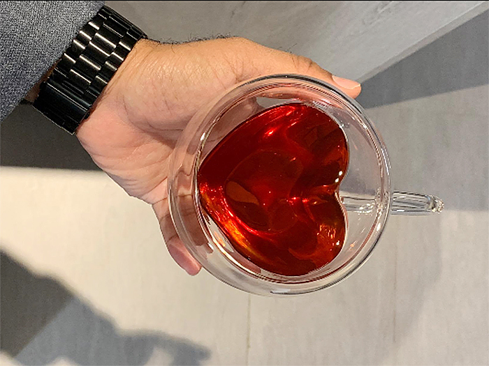 heart-shaped teacup