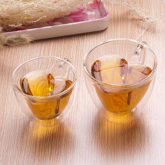 heart-shaped teacups