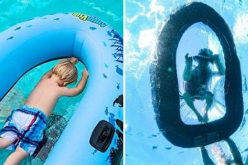 inflatable clear bottom raft