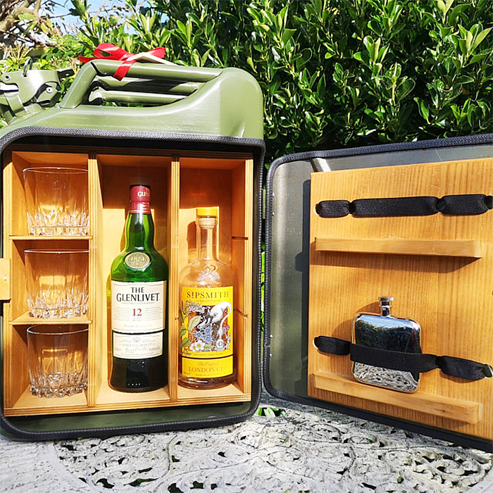 jerry can mini bar liqour bottles