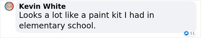 kevin white facebook comment on ancient egyptian paint-mixing board