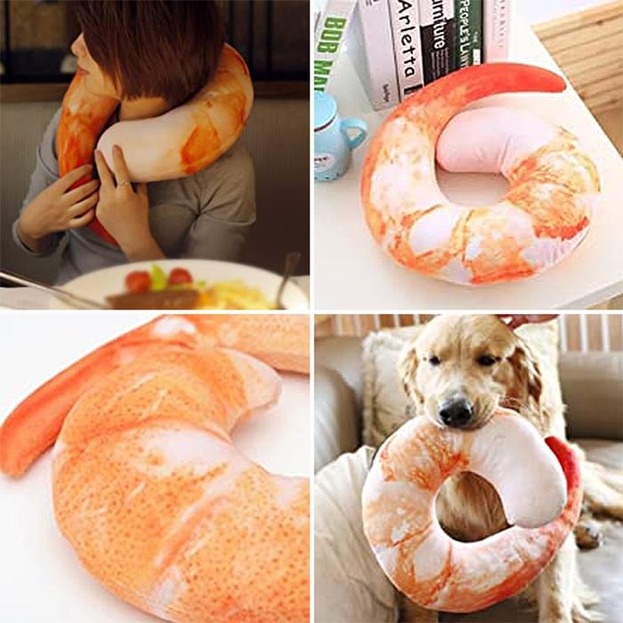 lifelike seafood design cushion