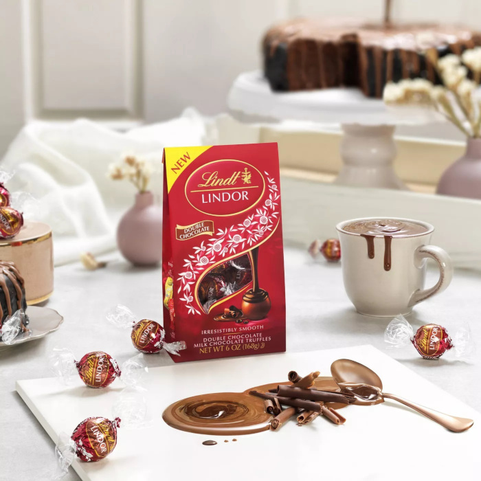 lindt lindor double chocolate truffles suggested serving