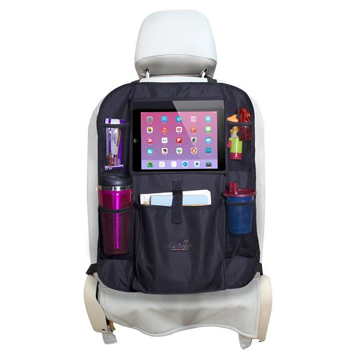mesh pockets and tablet holder