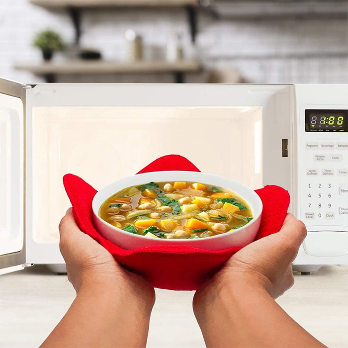 microwave bowl hugger hand protector