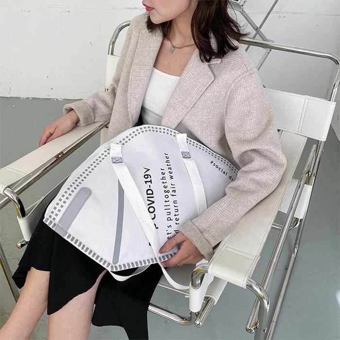 n95 respirator handbag white