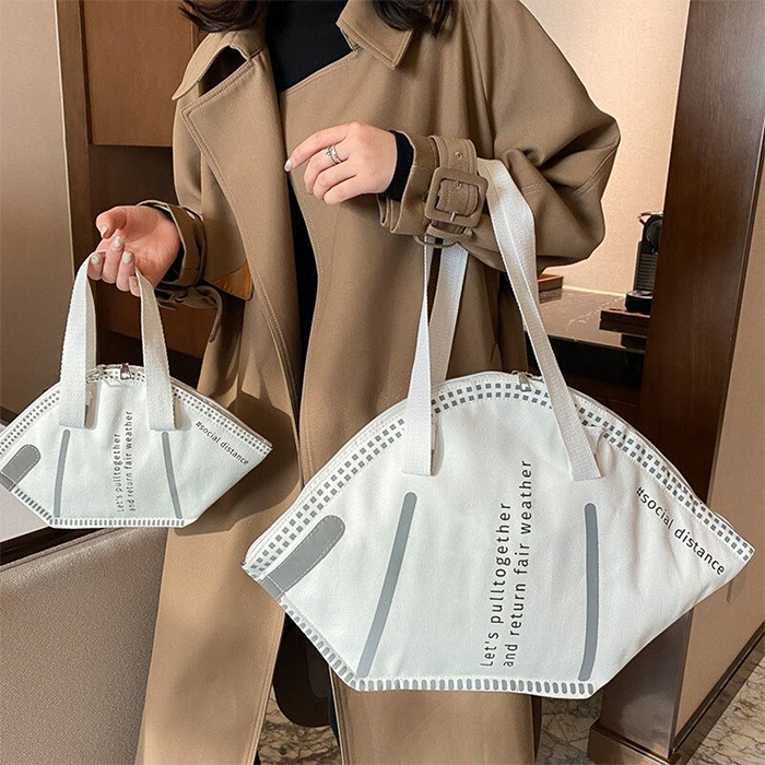 n95 respirator handbags sizes white