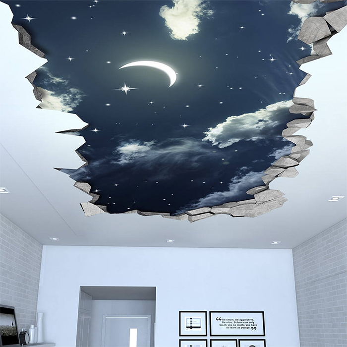 night sky ceiling decal