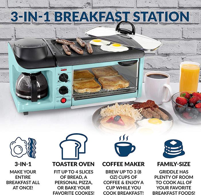 nostalgia 3-in-1 breakfast station functions