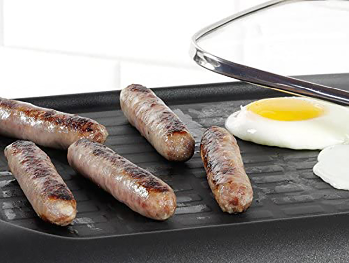 nostalgia retro style multifunctional appliance integrated nonstick griddle