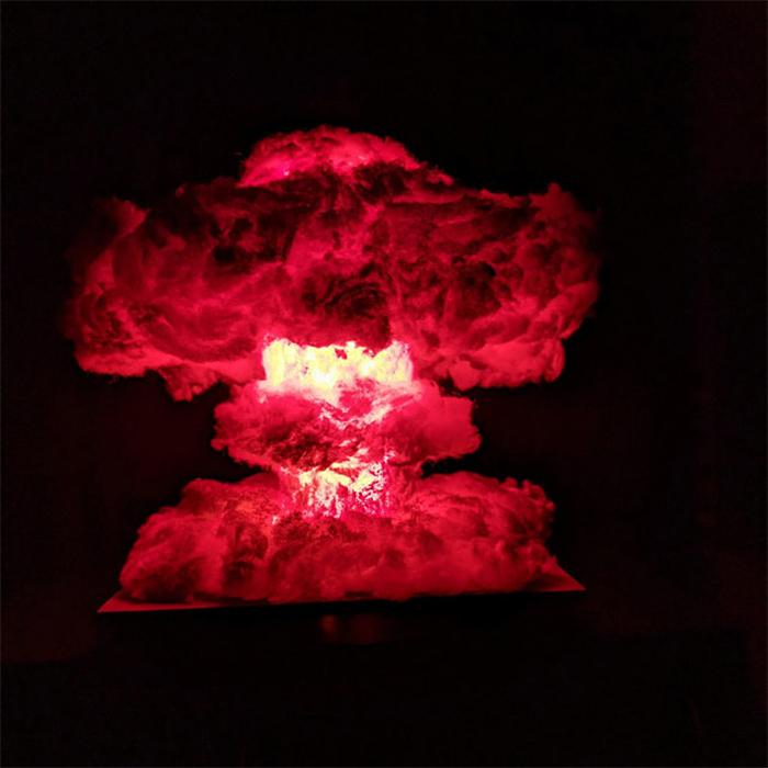 nuke blast light-up diorama