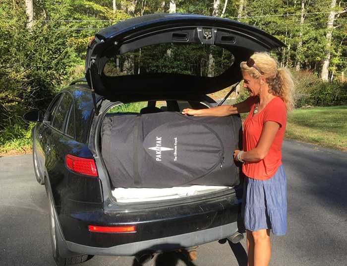 pakayak easy storage car trunk