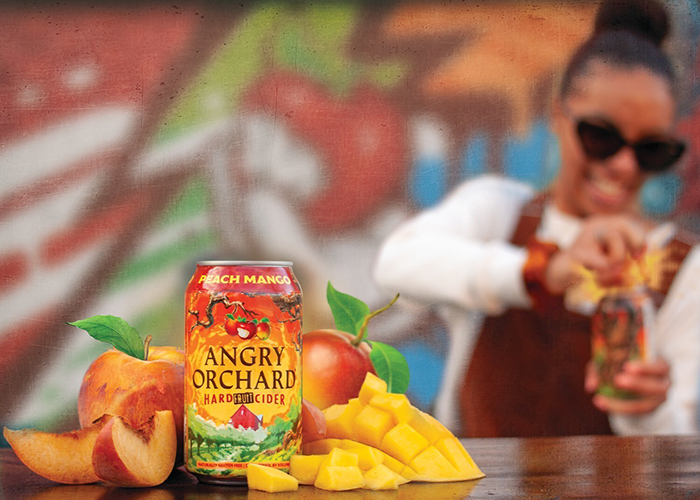 peach mango flavored hard fruit cider