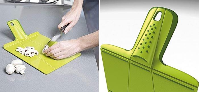 plastic chopping board soft-grip handle