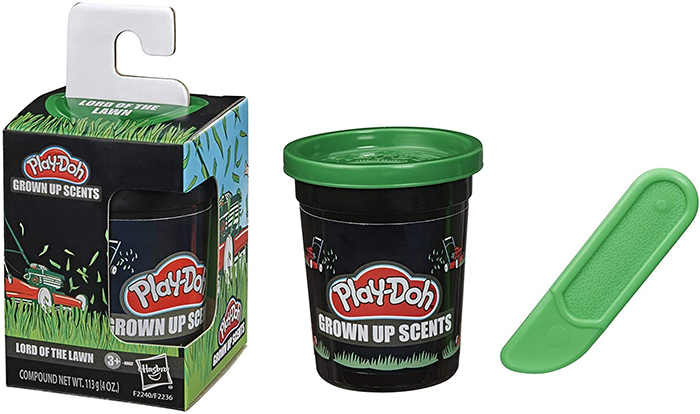 play-doh grown up scents lord of the lawn