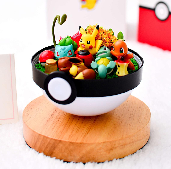 pokeball with removable top dome