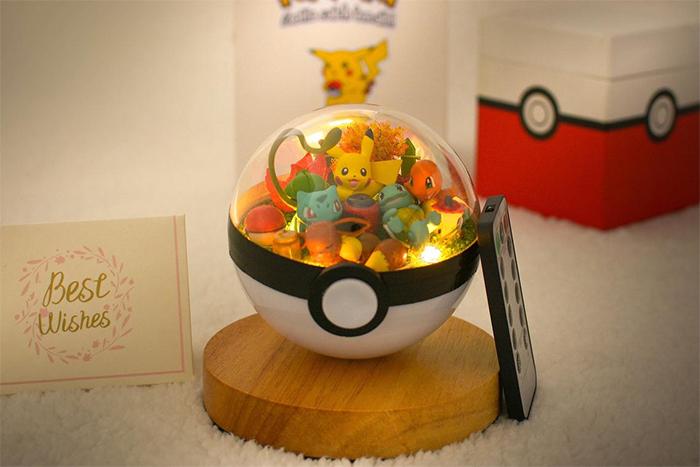 pokemon terrarium with light