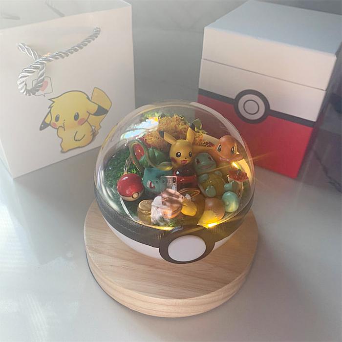 pokemon terrarium wooden base
