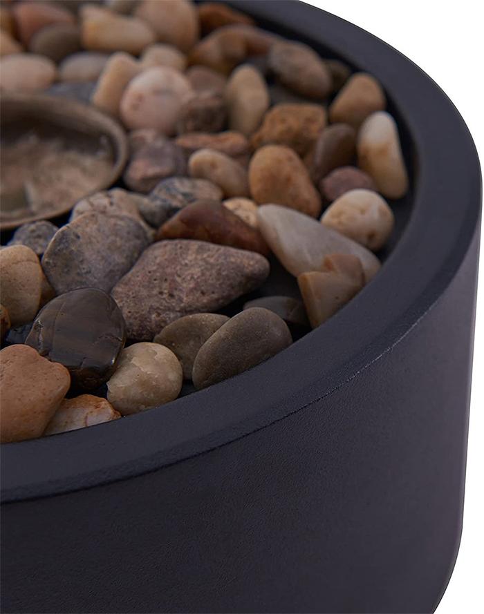 portable flame lantern decorative rocks